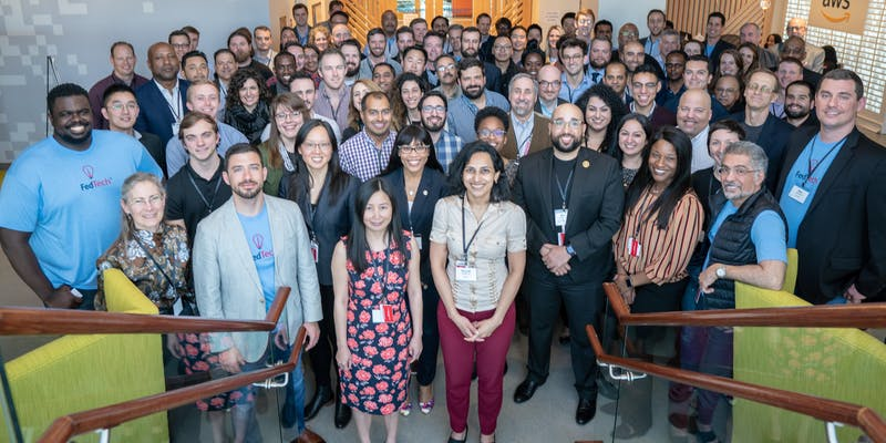 Group photo of FedTech Startup Studio Pitch Day